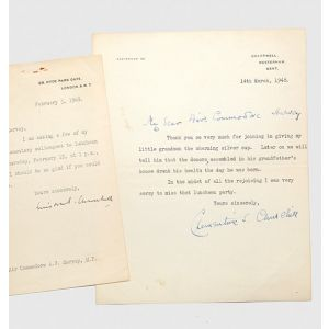 Typed letter signed from each, to Air Commodore A. V. Harvey, MP.