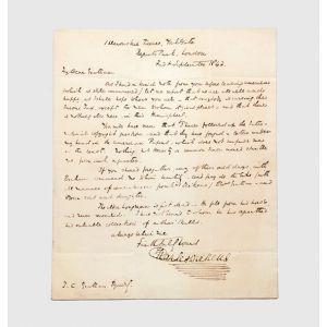 Autograph letter signed.