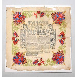 Souvenir napkin for the Women's Coronation Procession of 17 June 1911.