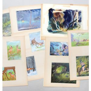Original artwork for Bambi sticker book.