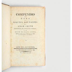 Compendio da obra da riqueza das nações de Adam Smith.