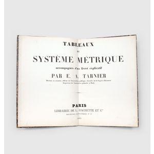 Tableaux du système métrique accompagnés d'un livret explicatif.