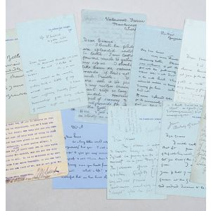Seven autograph letters signed from Beardsley to Frederick Henry Evans;