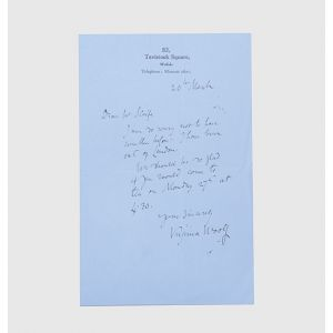 Autograph letter signed to Roger L. Scaife.