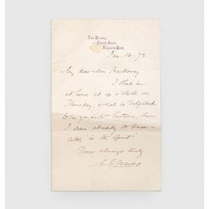 "Autograph letter signed (""M. E. Lewes"") to Anne Thackeray."