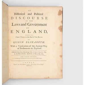 An Historical and Political Discourse of the Laws and Government of England,