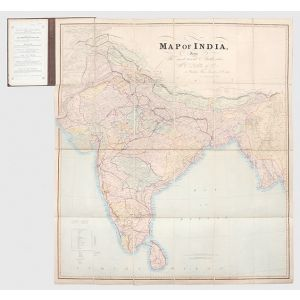 Map of India, from the most recent Authorities.