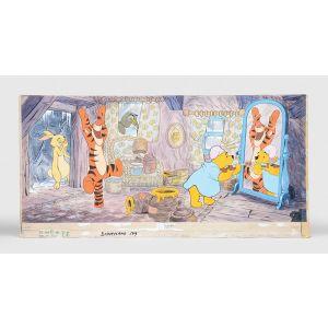 Rabbit, Tigger, Owl and Winnie the Pooh.
