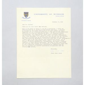 Typed letter signed, on the prospect of the novel in the 1970s.