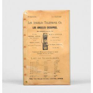 Los Angeles Telephone Book.