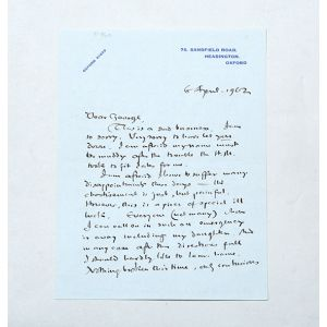 Six letters signed to George Sayer.