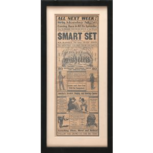 "Double-sided broadsheet: ""Smart Set Presenting Ma Raniey [sic], The Great ""Blues"" Singer and Twenty Other All Star Acts with The Greatest Colored Show on Earth""."