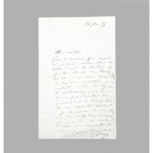 Autograph letter signed, to a London art critic,