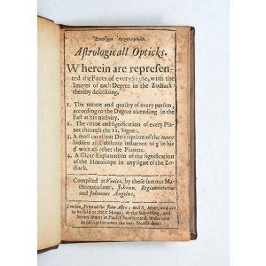 [Greek:] Esoptron astroligikon. Astrologicall Opticks.