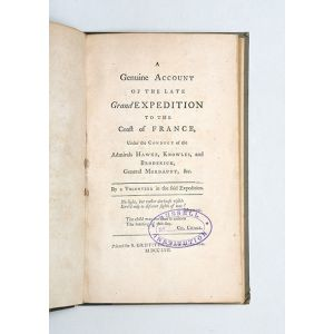 A Genuine Account of the Late Grand Expedition to the Coast of France.