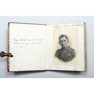 Manuscript memorial volume of a pilot officer of 56 Squadron R. F. C.