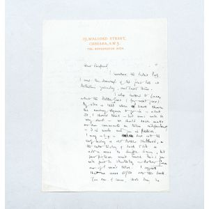 Autograph letter signed to Ernest H. Shepard.