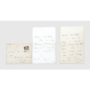 Two autograph letters signed to his close friend Arthur Clifton.
