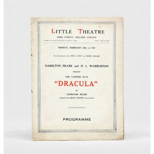 Dracula. The Vampire Play -  theatre programme for the London premier.