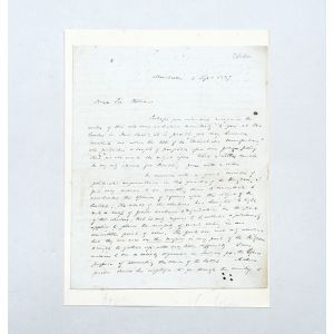 Autograph letter signed to William Molesworth, proposing a national campaign for the secret ballot.