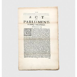 Act of Parliament, for Erecting a Bank in Scotland.