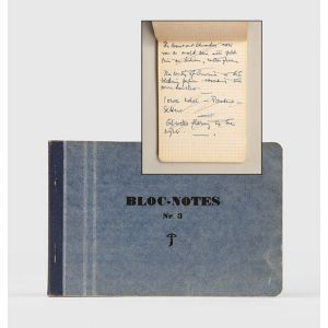 Manuscript notebook, including material used in You Only Live Twice.
