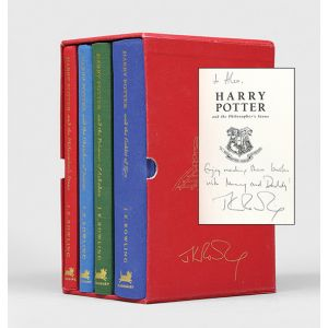 [Harry Potter collector's deluxe editions, signed or inscribed:]
