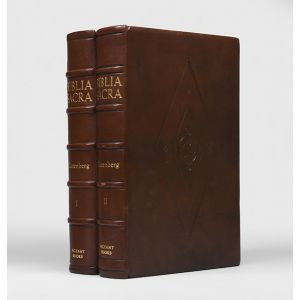 Biblia Sacra [facsimile of the Gutenberg Bible].