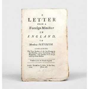 A Letter from a Foreign Minister in England to Monsieur Pettecum.