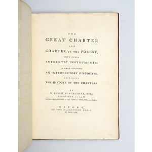 The Great Charter and Charter of the Forest,