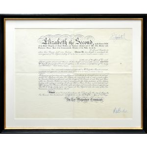 Signed royal warrant, appointing Edward Haworth as Consul to reside at Macao.