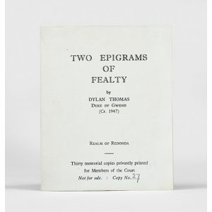 Two Epigrams of Fealty.