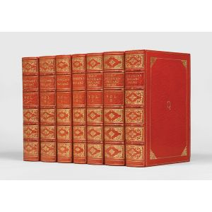 A finely bound collection of English histories.
