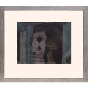 Production cel for 101 Dalmatians featuring Colonel & Sgt. Tibbs.