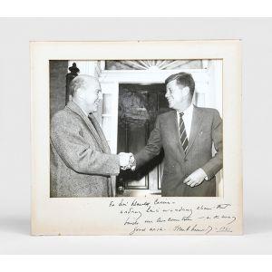 Photograph inscribed to British diplomat Harold Caccia.