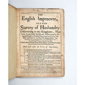 The English Improover, or a new Survey of Husbandry.