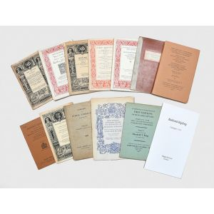 A collection of catalogues relating to significant Rudyard Kipling collections