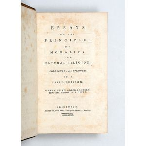 Essays on the Principles of Morality and Natural Religion: