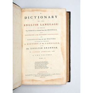 A Dictionary of the English Language: