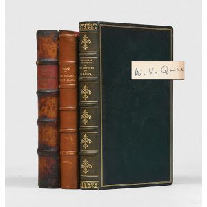 Quine's own copies of three of his books, specially bound.