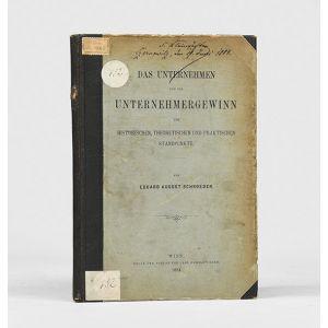 Das Unternehmen und der Unternehmergewinn vom historischen, theoretischen and praktischen Standpunkte.