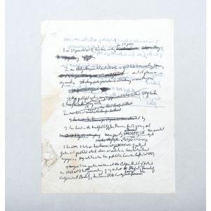 Autograph manuscript leaf.