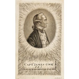 "Contemporary engraved profile bust portrait, ""Captn. James Cook F.R.S."""