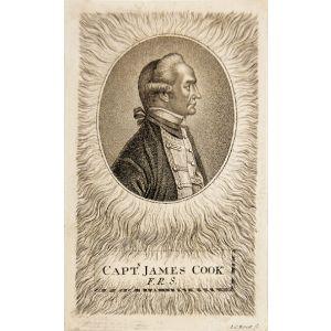"""Contemporary engraved profile bust portrait, """"Captn. James Cook F.R.S."""""""
