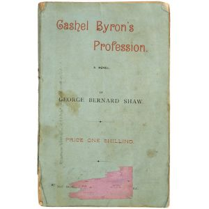 Cashel Byron's Profession. A novel.