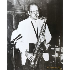 Original photograph of Al Cohn in performance.