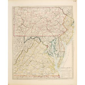 NORTH AMERICA Sheet VII, PENNSYLVANIA, NEW JERSEY, MARYLAND, DELAWARE, COLUMBIA AND PART OF VIRGINIA