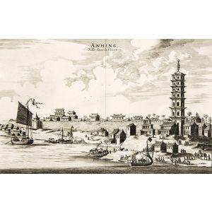 Nieuhoff's China - Anhing, Ville dans la Chine