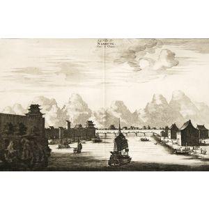Nieuhoff's China - La Ville de Nanhung, dans la Chine