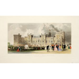 Windsor Castle East Terrace. The Queen's private apartments.